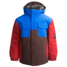 Bonfire Scout Jacket - Insulated (For Boys) in Bison - Closeouts