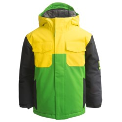 Bonfire Scout Jacket - Insulated (For Little and Big Boys) in Gator B