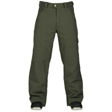 Bonfire Wallace Snowboard Pants - Waterproof (For Men) in Bunker - Closeouts
