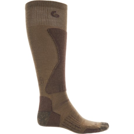 Boot Light Socks - Merino Wool, Over the Calf (For Men and Women) - COYOTE BROWN (XL ) thumbnail