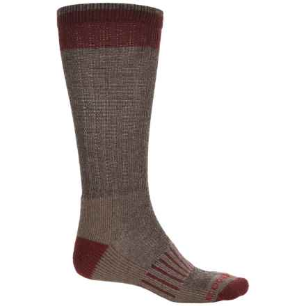 Boot Socks - Mid Calf (For Men) in Bark - Overstock