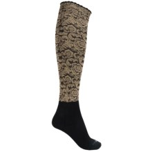 Bootights Dakota Floral Knee-High Boot Socks (For Women) in Sand - Closeouts