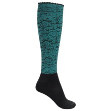 Bootights Dakota Floral Knee-High Boot Socks (For Women) in Turquoise - Closeouts