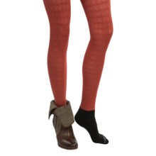 Bootights Halsted Dot and Chain Tights - Ankle (For Women) in Burnt - Closeouts