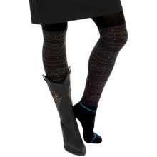 Bootights Kodiak Sweater Tights - Built-In Ankle Socks (For Women) in Heather Grey - Closeouts
