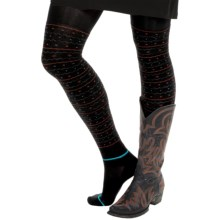 Bootights Kodiak Sweater Tights - Built-In Ankle Socks (For Women) in Jet Black - Closeouts