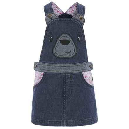 Bopster & Mimi Denim Bear Jumper (For Toddler Girls) in Dark Wash Denim - Closeouts