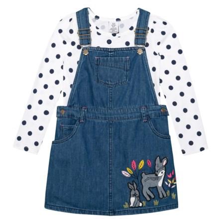 05271427ec75 Bopster   Mimi Denim Jumper and Printed T-Shirt Set - Long Sleeve (For