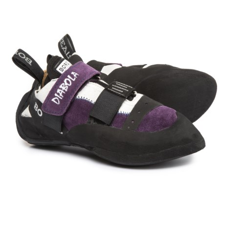 Boreal Diabola Climbing Shoes - Leather (For Women) in Purple