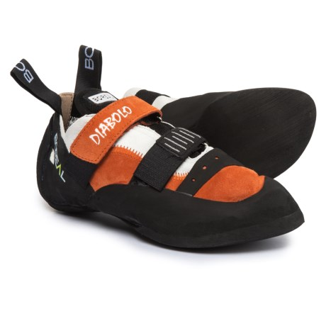 Boreal Diabolo Climbing Shoes - Suede (For Men and Women) in Orange