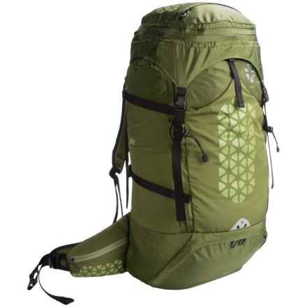 Boreas Halo 75L Backpack - Internal Frame in Halo Green - Closeouts
