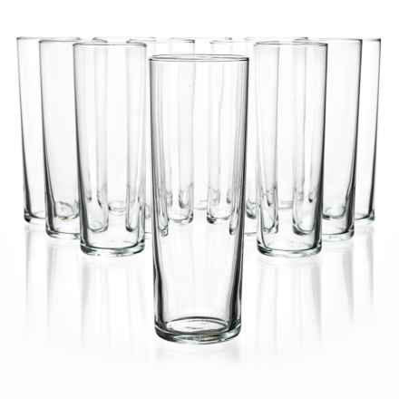 Bormioli Rocco Aere Long Drink Highball Glasses - Set of 12 in Clear - Overstock