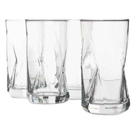 Bormioli Rocco Cassiopea Cooler Glasses - Set of 4, 16 oz. in Clear - Overstock
