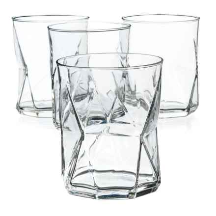 Bormioli Rocco Cassiopea Double Old-Fashioned Glasses - 14 oz., Set of 4 in Clear - Overstock