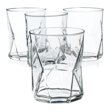 Bormioli Rocco Cassiopea Double Old-Fashioned Glasses - 14 oz., Set of 4 in Clear