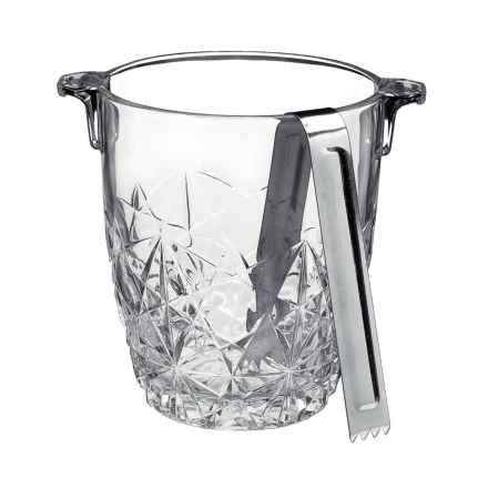 Bormioli Rocco Dedalo Ice Bucket with Tongs in Clear - Closeouts