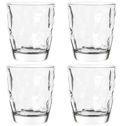 Bormioli Rocco Diamond Double Old Fashioned Glasses - 13 oz., Set of 4 in Clear - Closeouts