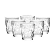 Bormioli Rocco Diamond Double Old-Fashioned Glasses - Set of 6 in Clear - Overstock