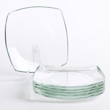 Bormioli Rocco Eclissi Square Dessert Plates - Tempered Glass, Set of 6 in Clear - Overstock