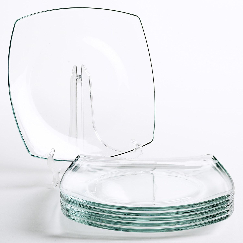 Bormioli Rocco Eclissi Square Dinner Plates - Tempered ...