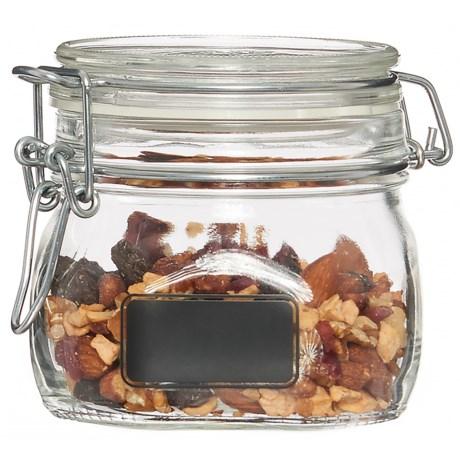 Bormioli Rocco Fido Glass Jar - 17.5 oz. in Chalk