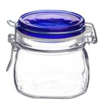 Bormioli Rocco Fido Glass Jar with Lid - 17.5 oz. in Blue - Overstock