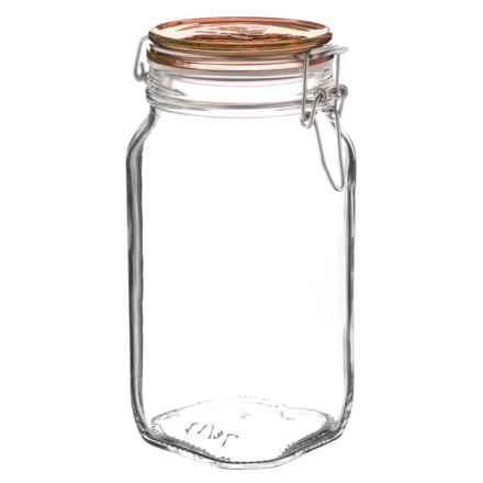 Bormioli Rocco Fido Glass Jar with Lid - 50 fl.oz. in Copper - Overstock