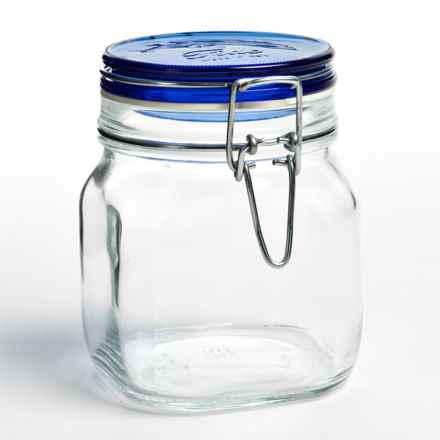 Bormioli Rocco Fido Jar - 25.5 fl.oz. in Blue - Overstock