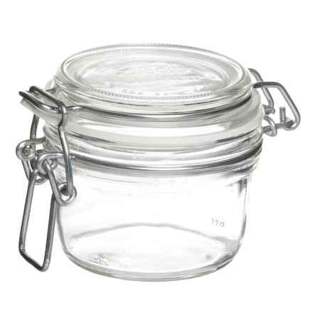 Bormioli Rocco Fido Round Glass Jar - 4.25 oz. in Clear - Closeouts