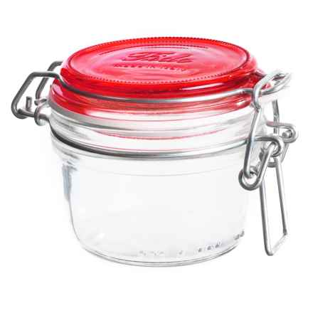 Bormioli Rocco Fido Round Glass Jar - 4.25 oz. in Red - Closeouts