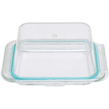 Bormioli Rocco Frigoverre Covered Butter Dish - Glass in See Photo - Closeouts