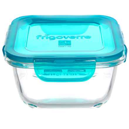 Bormioli Rocco Frigoverre Evolution Square Glass Food Storage Container - 25.25 oz. in Teal - Overstock