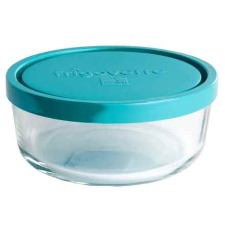 Bormioli Rocco Frigoverre Food Storage Container - Glass, Round, 24.75 oz. in Teal - Overstock