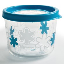 Bormioli Rocco Frigoverre Fun Food Container - Glass, 23.5 oz in Blue - Overstock