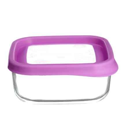 Bormioli Rocco Frigoverre Fun Glass Food Storage Container - 25.5 oz. in Fuchsia - Closeouts
