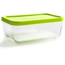 Bormioli Rocco Frigoverre Multi Rectangle Food Container - Glass, BPA-Free, 37.25 oz. in Lime/Clear - Overstock