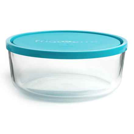 Bormioli Rocco Frigoverre Round Glass Food Storage Container - 88 oz. in Teal - Closeouts