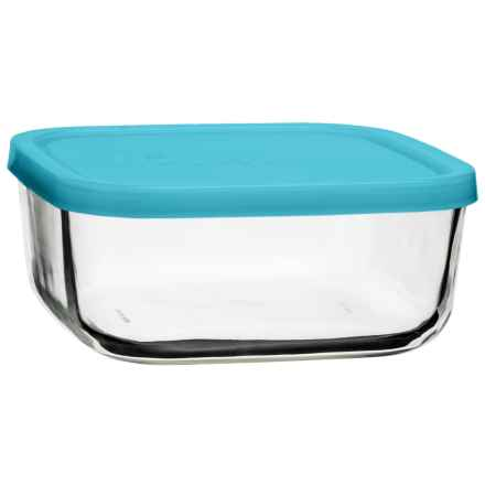 Bormioli Rocco Frigoverre Square Food Storage with Lid - 25.25 oz., Glass in Teal - Closeouts