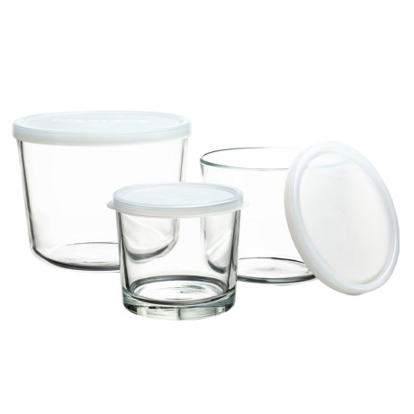 Frigoverre Round Glass Storage Containers