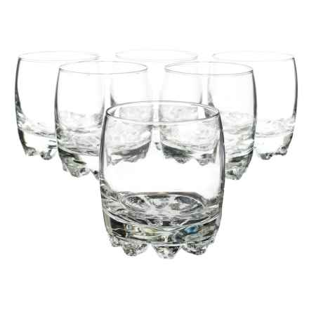 Bormioli Rocco Galassia Rocks Glasses - 10 fl.oz. Set of 6 in Clear - Closeouts