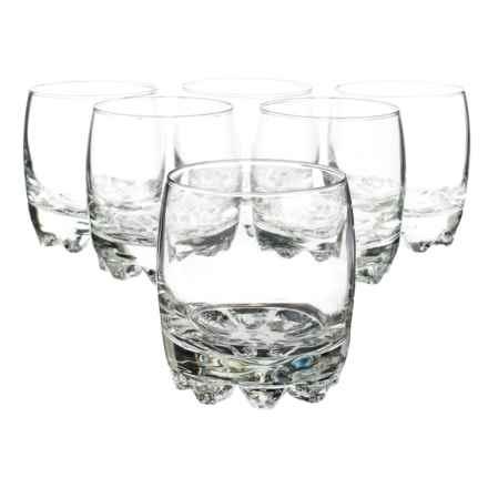 Bormioli Rocco Galassia Rocks Glasses - 10 fl.oz. Set of 6 in Clear - Closeouts