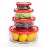 Bormioli Rocco Gelo Glass Storage Bowls- Set of 4