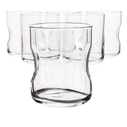 Bormioli Rocco Giove Double Old-Fashioned Glasses - Set of 6 in Clear - Overstock