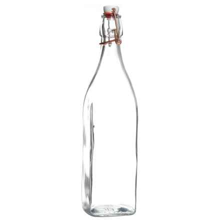 Bormioli Rocco Glass Bottle with Copper Swing Lid - 33.75 oz. in Clear - Closeouts