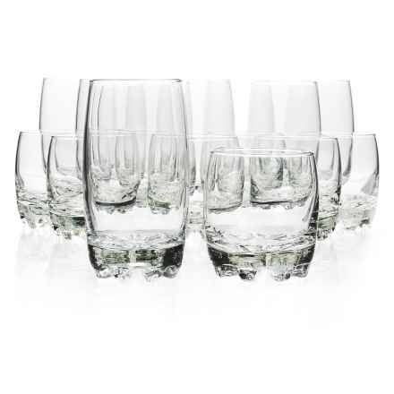 Bormioli Rocco Glassia Beverage and Rocks Glasses - 16-Piece Set in Clear - Closeouts