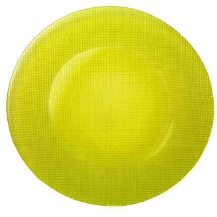 Bormioli Rocco Inca Glass Charger Plate in Green - Overstock