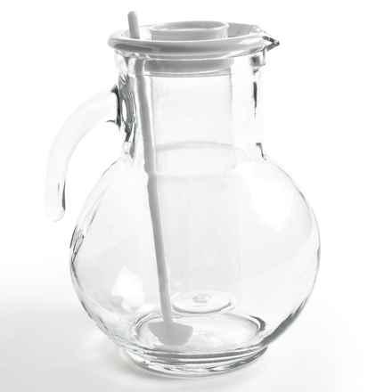 Bormioli Rocco Kufra Glass Pitcher with Ice Tube - 72 3/4 fl.oz. in White - Overstock