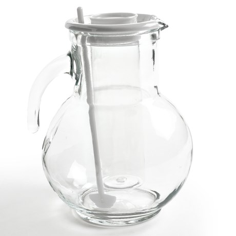 Bormioli Rocco Kufra Glass Pitcher with Ice Tube - 72 3/4 fl.oz. in White