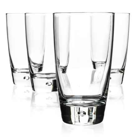 Bormioli Rocco Luna Cooler Glasses - Set of 4 in Clear - Closeouts