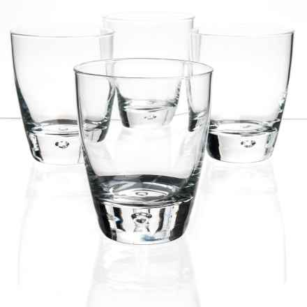 Bormioli Rocco Luna Double Old-Fashioned Glasses - Set of 4 in Clear - Closeouts